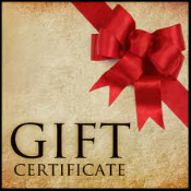 Gift Certificates from $10 to $200