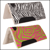 Zebra cheetah saddle pad 32 x 30