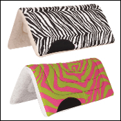 zebra cheetah print saddle pony pad