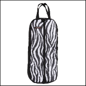 tough 1 nylon halter bridle bag premium zebra