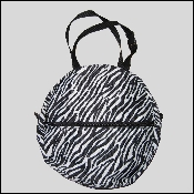 Nylon Rope Bag Zebra - Youth 12""