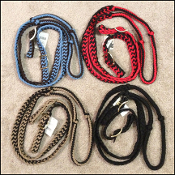 Braided nylon reins